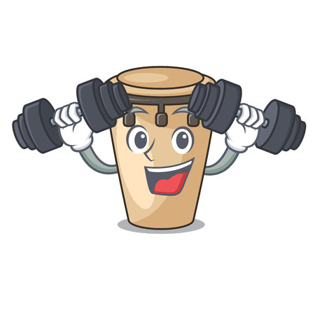 Fitness conga character cartoon style vector illustration 矢量图像