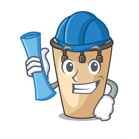 Architect conga character cartoon style vector illustration