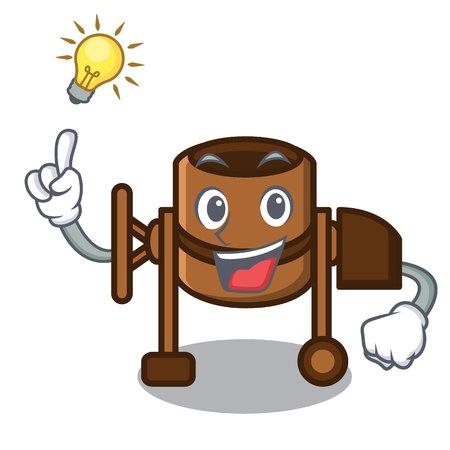 Have an idea concrete mixer mascot cartoon vector illustration