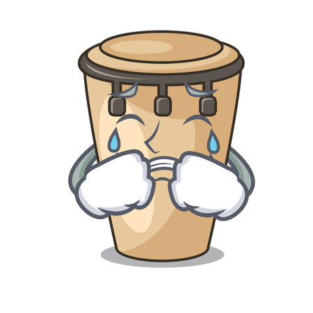 Crying conga mascot cartoon style vector illustration Reklamní fotografie - 111999766