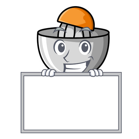 Grinning with board juicer character cartoon style vector illustration Illustration