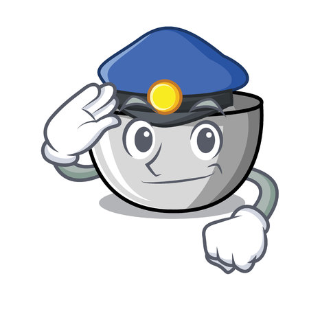 Police juicer character cartoon style vector illustration