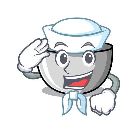 Sailor juicer character cartoon style vector illustration