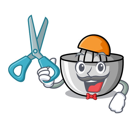 Barber juicer character cartoon style