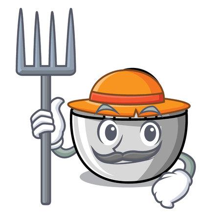Farmer juicer character cartoon style vector illustration Illustration