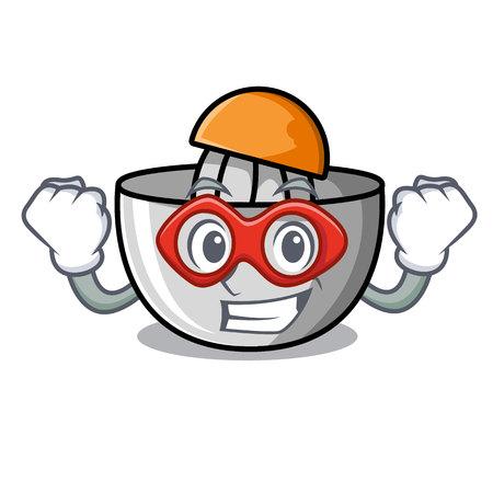 Super hero juicer character cartoon style Illustration