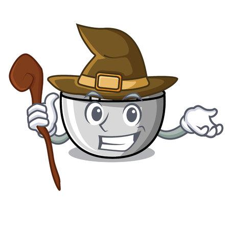 Witch juicer mascot cartoon style vector illustration Illustration