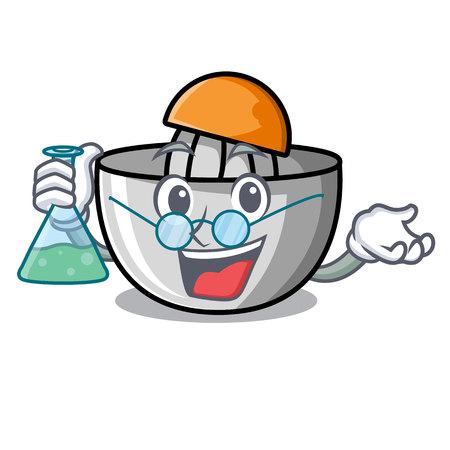 Professor juicer character cartoon style vector illustration Illustration