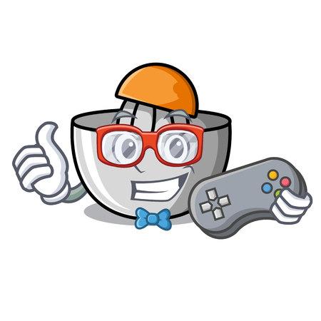 Gamer juicer mascot cartoon style