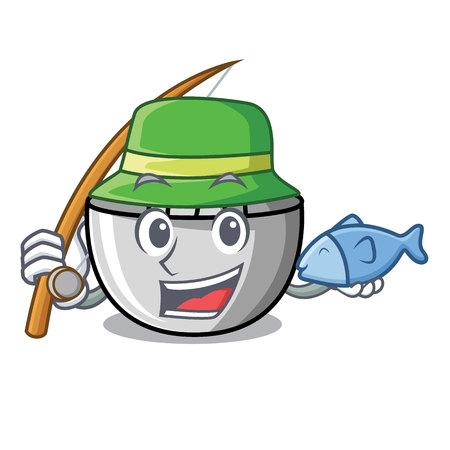 Fishing juicer mascot cartoon style
