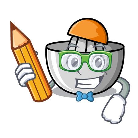 Student juicer character cartoon style vector illustration