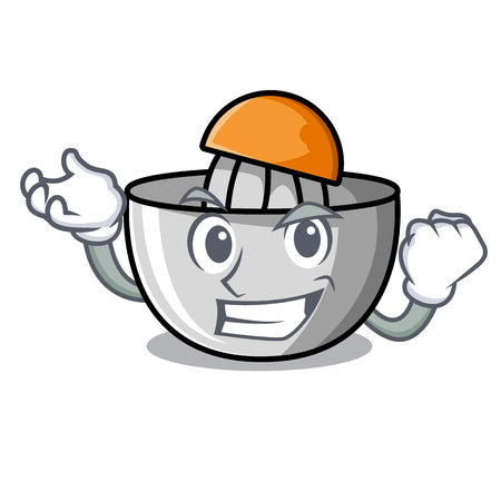 Successful juicer character cartoon style vector illustration