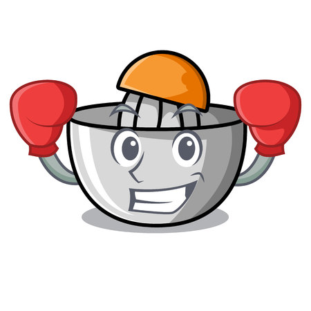 Boxing juicer character cartoon style vector illustration