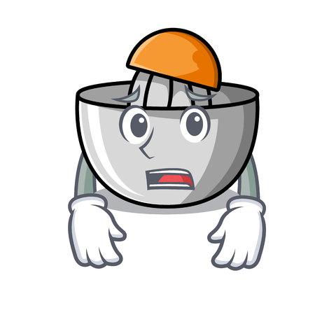 Afraid juicer mascot cartoon style vector illustration Illustration