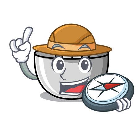 Explorer juicer mascot cartoon style