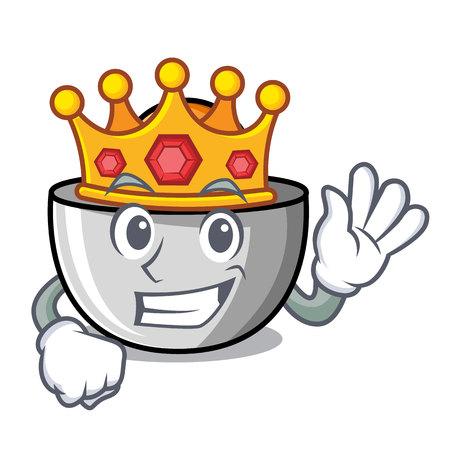 King juicer mascot cartoon style vector illustration Illustration