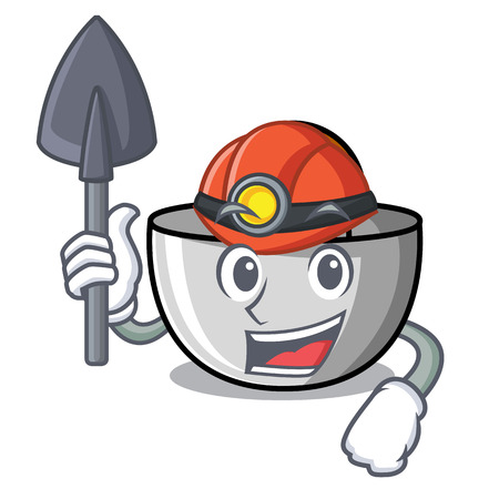 Miner juicer mascot cartoon style vector illustration Illustration