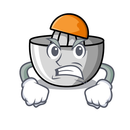 Angry juicer mascot cartoon style vector illustration