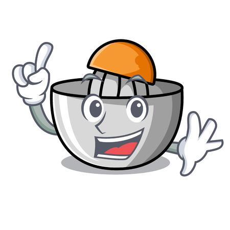 Finger juicer mascot cartoon style