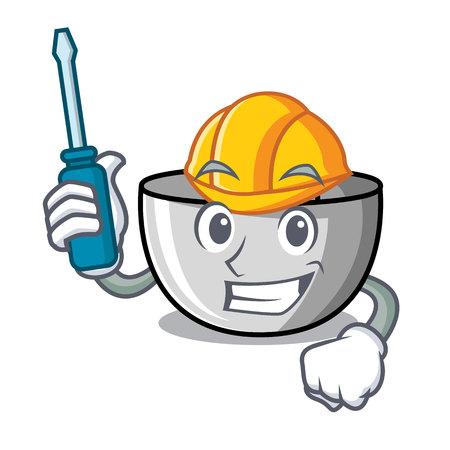 Automotive juicer mascot cartoon style vector illustration