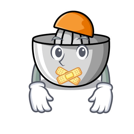 Silent juicer mascot cartoon style