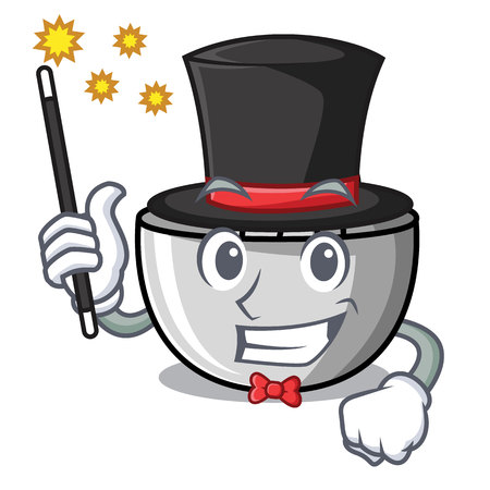 Magician juicer mascot cartoon style vector illustration