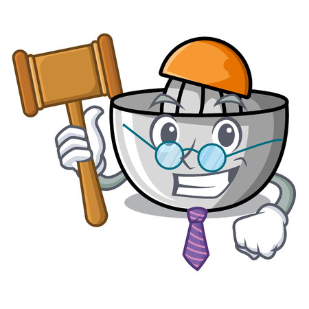 Judge juicer mascot cartoon style