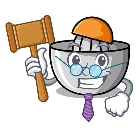 Judge juicer mascot cartoon style