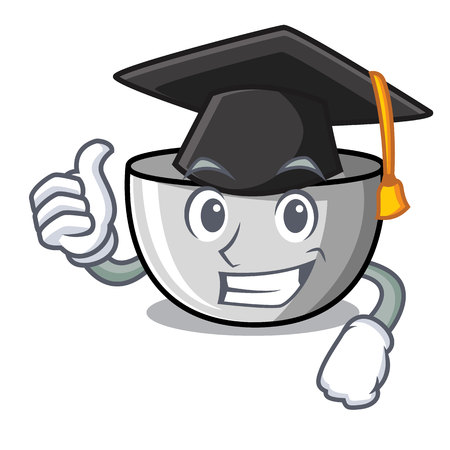 Graduation juicer character cartoon style Illustration