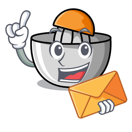 With envelope juicer character cartoon style
