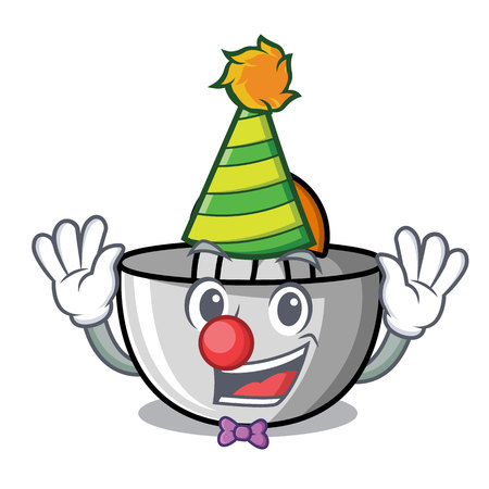 Clown juicer mascot cartoon style vector illustration Illustration