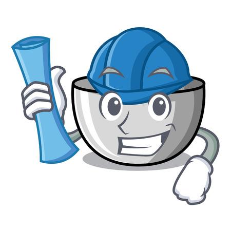 Architect juicer character cartoon style vector illustration Stock Photo