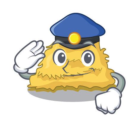 Illustration vectorielle de police foin balle personnage dessin animé