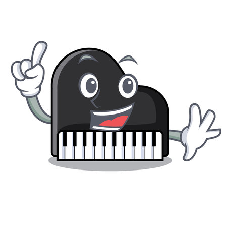 Finger piano mascot cartoon style vector illustration
