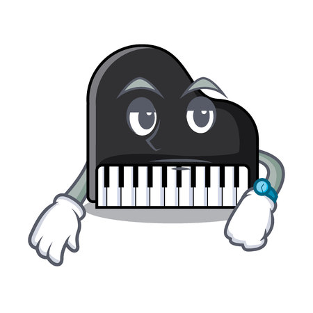 Waiting piano mascot cartoon style vector illustration Illusztráció