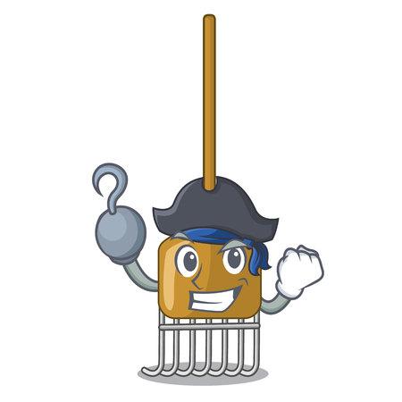 Pirate rake character cartoon style