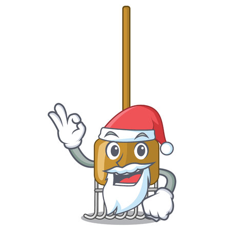 Santa Garden tools and supplies for soil treatment character vector illustration 矢量图像