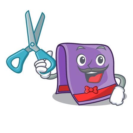 Barber towel character cartoon style vector illustration Vektorové ilustrace