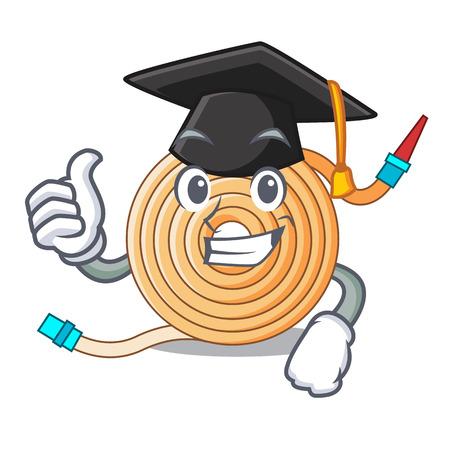 Graduation garden water hose cartoon vector illustration