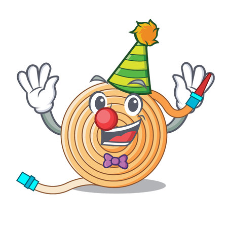 Clown the water hose mascot vector illustration Çizim