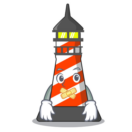 Silent classic cartoon lighthouse of red vector illustration