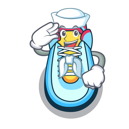Sailor classic sneaker character style vector illustration