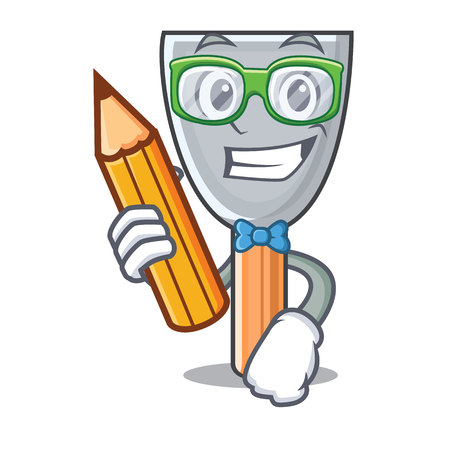 Student character putty knife isolated vector illustration