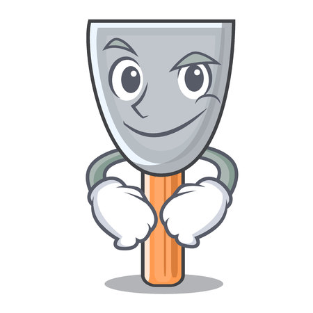 Smirking character putty knife isolated vector illustration Иллюстрация