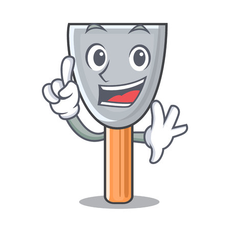 Finger vintage putty knife on mascot vector illustration