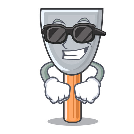 Super cool character putty knife isolated vector illustration