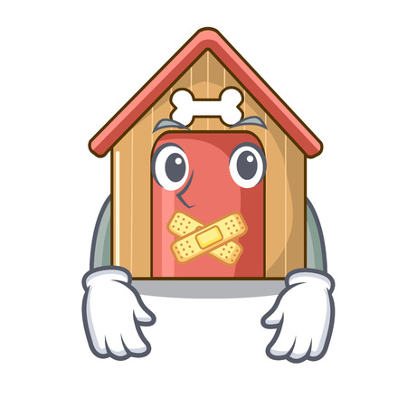 Silent mascot dog house of wood home vector illustration Illusztráció