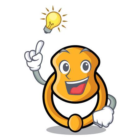Have an idea vintage door knocker on mascot cartoon vector illustration