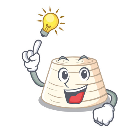 Have an idea fresh ricotta cheese on mascot cartoon vector illustration
