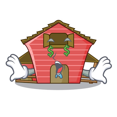 Money eye red storage barn isolated on mascot vector illustration  イラスト・ベクター素材